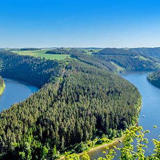 Thuringer Woud omgeven door wateren in Duitsland