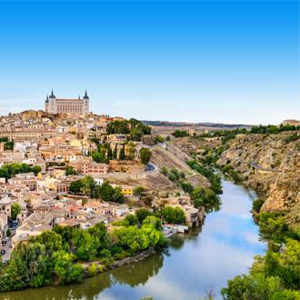 De stad Toledo, Madrid, Spanje