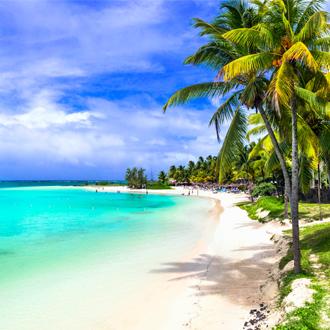 Tropisch paradijs in Belle Mare op Mauritius eiland