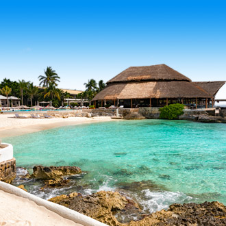 Tropisch strand op Cozumel Island, Mexico