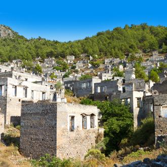 Ruines van Kayakoy in Fethiye