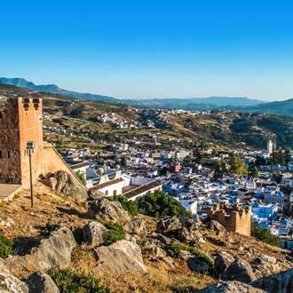 Uitzicht over huizen in Marokko