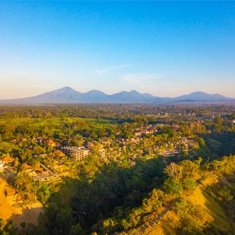 Uitzicht over Ubud, Bali in Indonesie