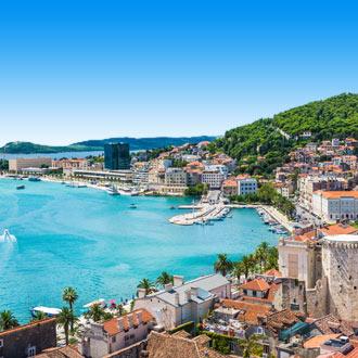 Uitzicht op Split en de zee