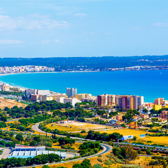 Uitzicht over Can Picafort