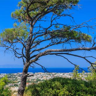 Uitzicht over Ialyssos Rhodos