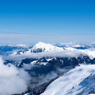 Prachtige uitzicht over de Kitzbuheler Alpen