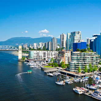 Panoramafoto van Vancouver in Canada
