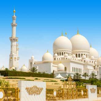 Uitzicht op Sjeik Zayed-moskee