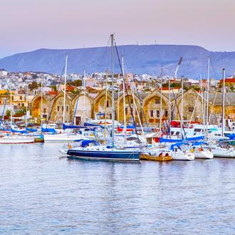 Vissersboten in Chania op Kreta in Griekenland