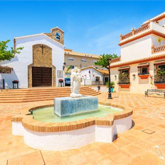 Binnenplaats met fonteintje in Estepona