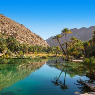 Waterpoel in Wadi Bani Khalid in Oman