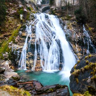 Waterval in Bad Gastein in Oostenrijk