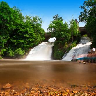 De watervallen van Coo in de Ardennen Belgie