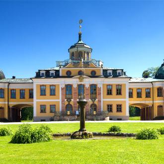 De Barokke Schloss Belvedere in Weimar, Thuringen, Duitsland