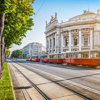 Retro tram in Wenen