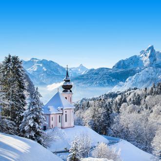 Winterlandschap Beierse Alpen in Duitsland