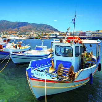 Bootjes in de oude haven van Chersonissos