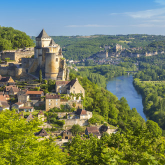 Kasteel castelnaud in de Dordogne