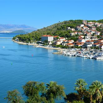 Foto van de prachtige huisjes in Trogir, Kroatie