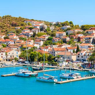 Haven van Trogir in Kroatie