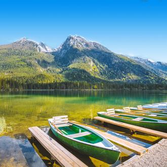 De Hintersee in de Berchtesgadenerland, Duitsland