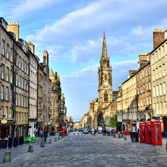 Historische Royal Mile van Edinburgh