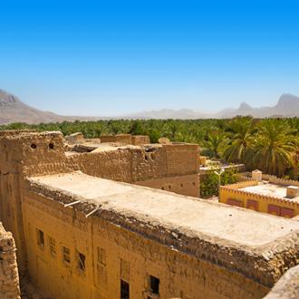 Fort bij old village of Hamra in Oman