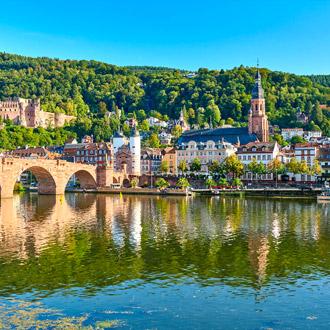 stad in Baden Wurttemberg, met meer en brug