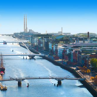 Uitzicht op de hoofdstad van Ierland, Dublin
