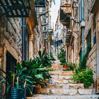 Mooi straatje in Dubrovnik