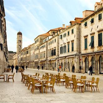 Stradun een populaire straat van Dubrovnik
