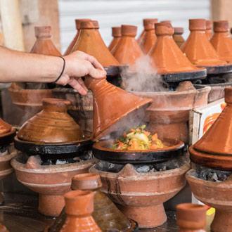 Tajine traditioneel gerecht in Marokko