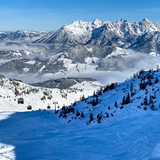 Uitzicht op skigebied in Fieberbrunn