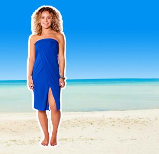 blauwe dress