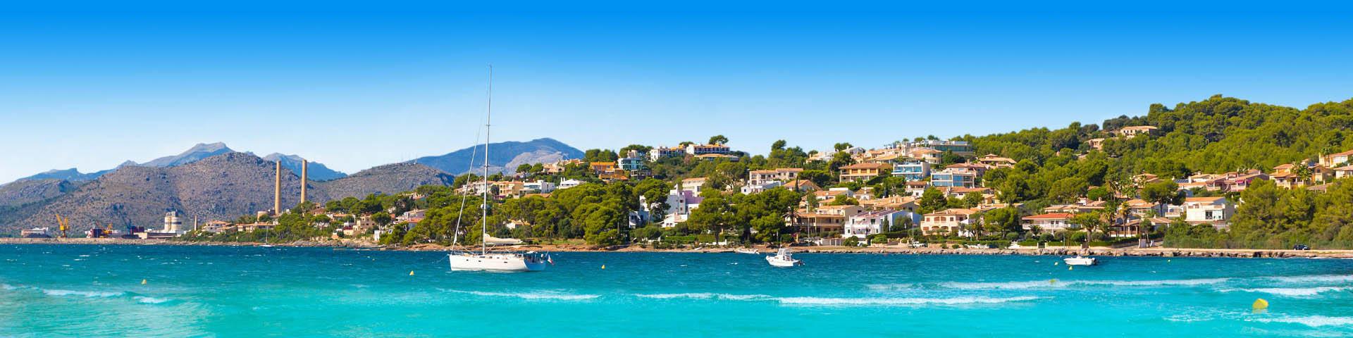 Bootjes in de havan van Alcudia op Mallorca