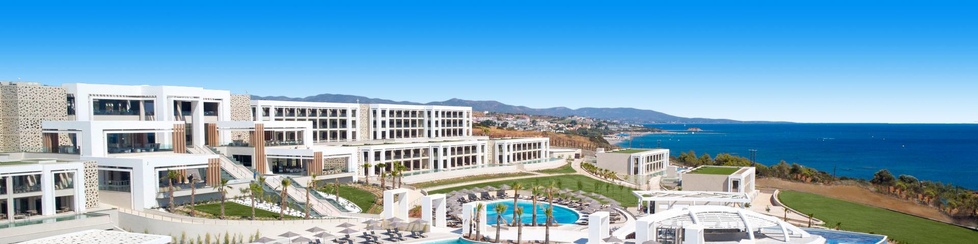Luxe all inclusive resort met prachtig zwembad op het Griekse eiland Rhodos