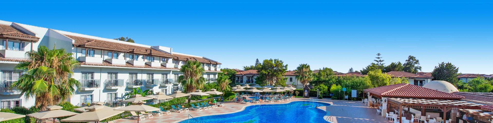 Luxe aparthotel in Side, Turkije met mooi zwembad en zonneterras