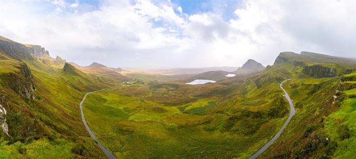 Prachtig uitzicht van filmlocatie Breaveheart