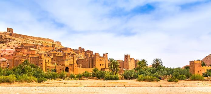 Kasbah Ait Ben Haddou vlakbij Ouarzazate in Marokko