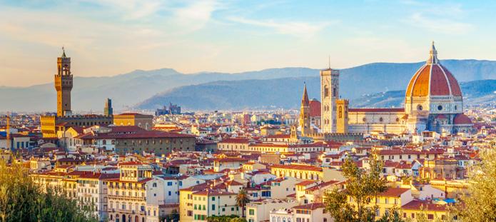 Uitzicht over de skyline van Florence