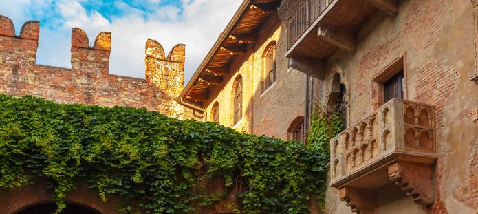 Balkon van Juliet in Verona