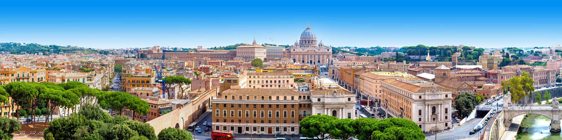 Stedentrip uitzicht op de Sint Pieter in Rome
