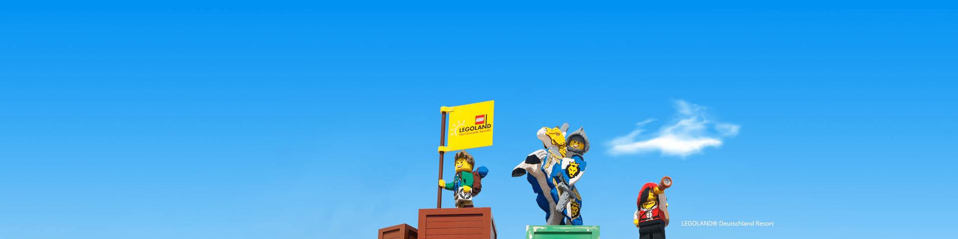 Poppetjes van Lego in Legoland
