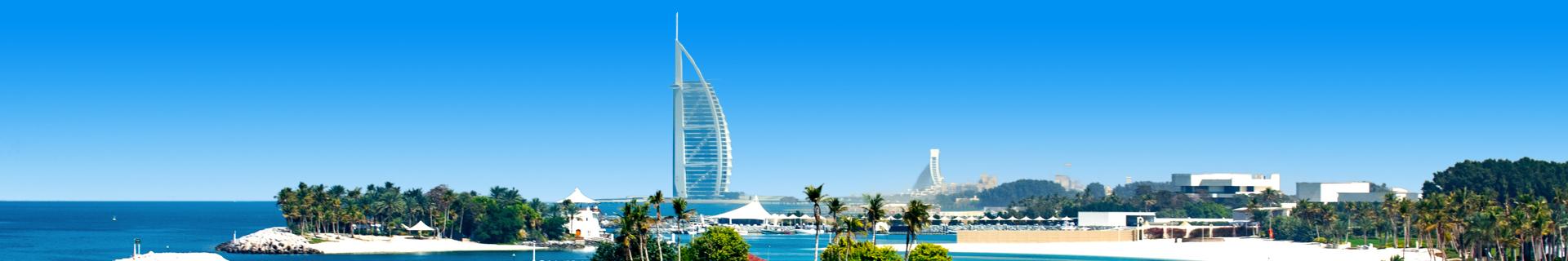 Uitzicht op het hoogste hotel in Dubai in de Verenigde Arabische Emiraten