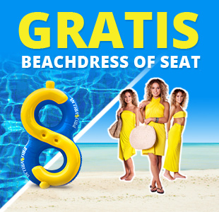 Gratis $eat of Beachdress bij alle servicepakketten