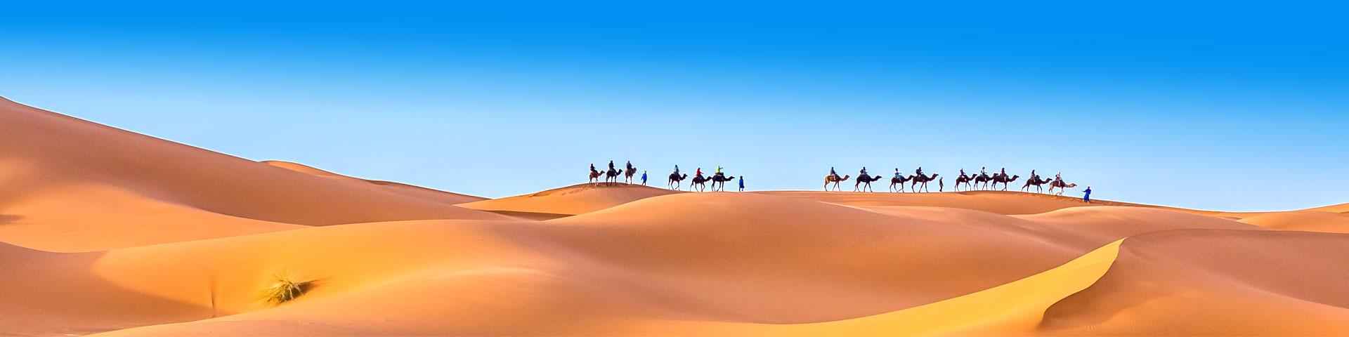 Woestijn in Marokko tijdens de zomervakantie