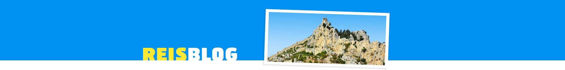 Foto van een rotsformatie in Cyprus