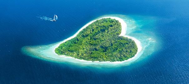 Hartvormig eiland