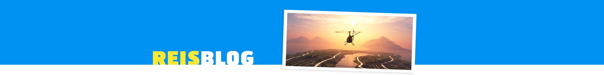 Vliegtuig over een prachtig landschap